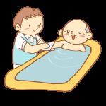 お風呂介助をする男性介護士
