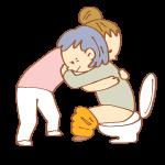 トイレ介助をする女性介護士