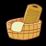 洗い桶と洗濯板