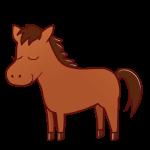 目を閉じた馬