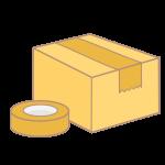 ダンボール箱とガムテープ