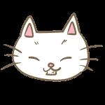 猫の顔(白)