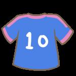 サッカーのユニフォーム(青)