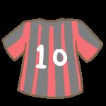 サッカーのユニフォーム(赤)
