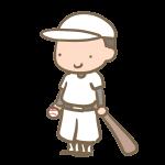 野球少年(バット)白