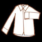 真っ白な長袖シャツ