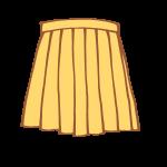黄色のプリーツスカート