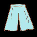 水色のスカーチョ