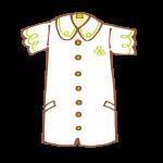 半袖のシャツワンピース