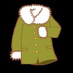 カーキ色のコート