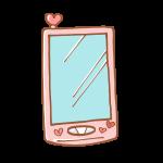 可愛いピンク色のスマートフォン