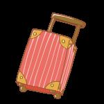 赤いキャリーバッグ