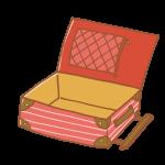 空のキャリーバッグ