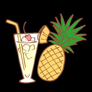 パイナップルとトロピカルジュース