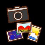 カメラと風景写真