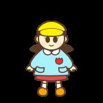 帽子を被っている園児(女の子)