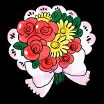 花束のブーケ
