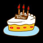 お誕生日ケーキホワイト