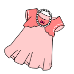 女の子のパーティ服