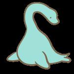 首の長い恐竜