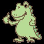 イイネ!する恐竜