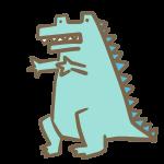 水色の恐竜