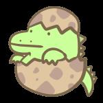 恐竜の赤ちゃん(緑)