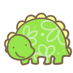 絵本風の恐竜(きみどり)