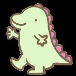 かわいい恐竜(薄緑)