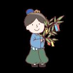 笹の葉を持った彦星