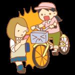 スマホをいじる歩行者と自転車の事故