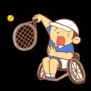 車いすのテニス選手