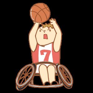 車いすのバスケット選手