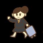 出張!スーツケースを持つ女性