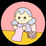 編み物をしているおばあちゃん
