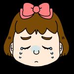 女の子の泣いた顔