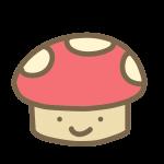 キノコいす(赤)