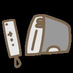 据え置き型ゲーム機(白)