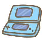 ポータブルゲーム機(青)
