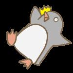 転ぶペンギン