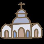 丸い屋根の教会