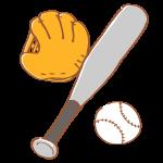 野球のグローブとバットとボール