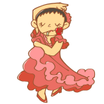 フラメンコを踊る女性