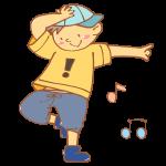 ヒップホップを踊る男性
