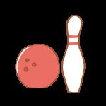 ボウリングの球とピン