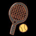 テニスのラケットとボール