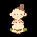 瞑想のヨガポーズ
