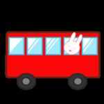 バスに乗ったうさぎ