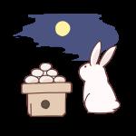 月と団子とウサギ