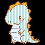 ストライプ模様の恐竜